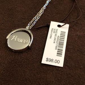 Henri Bendel long silver necklace